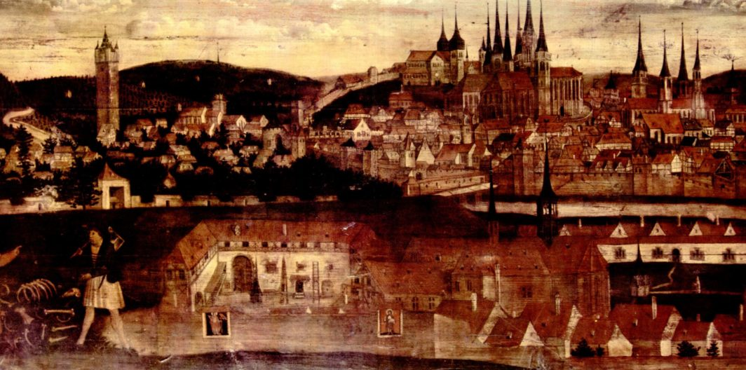 Bild: Gründungslegende des Erfurter Kartäuserklosters, 1525